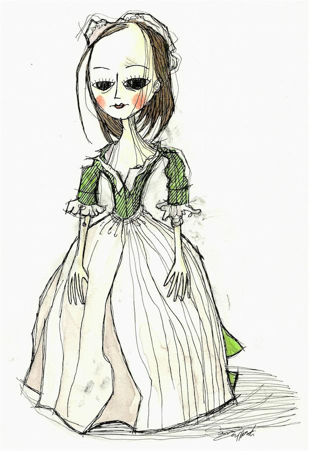 Ragged Queen Anne Doll